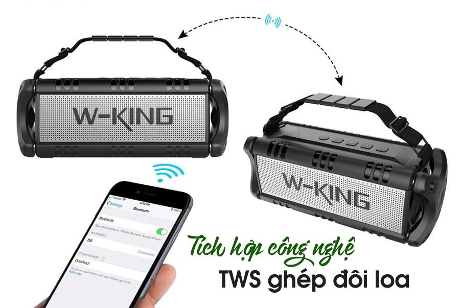 Loa Bluetooth W-King D8 thiết kế mạnh mẽ, âm thanh đỉnh cao cho phái mạnh